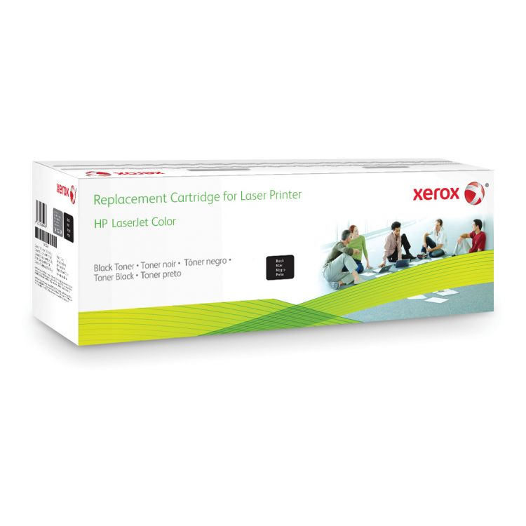 Xerox Black toner cartridge. Equivalent to HP CE410A. Compatible with HP Colour LaserJet M351A, Colour LaserJet M375MFP, Colour LaserJet M451, Colour LaserJet M475 MFP