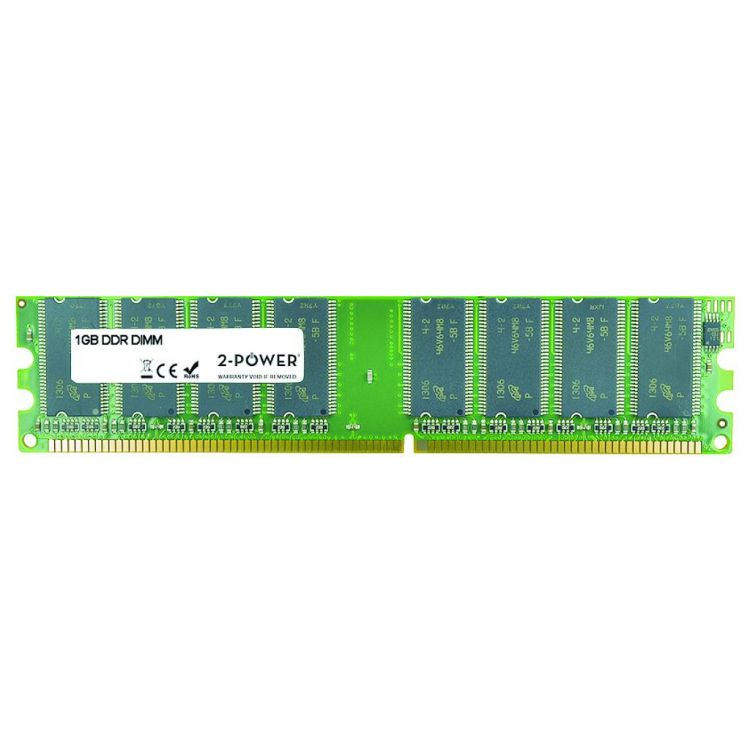 2-Power 1GB DDR 400MHz DIMM Memory - replaces DX786AV