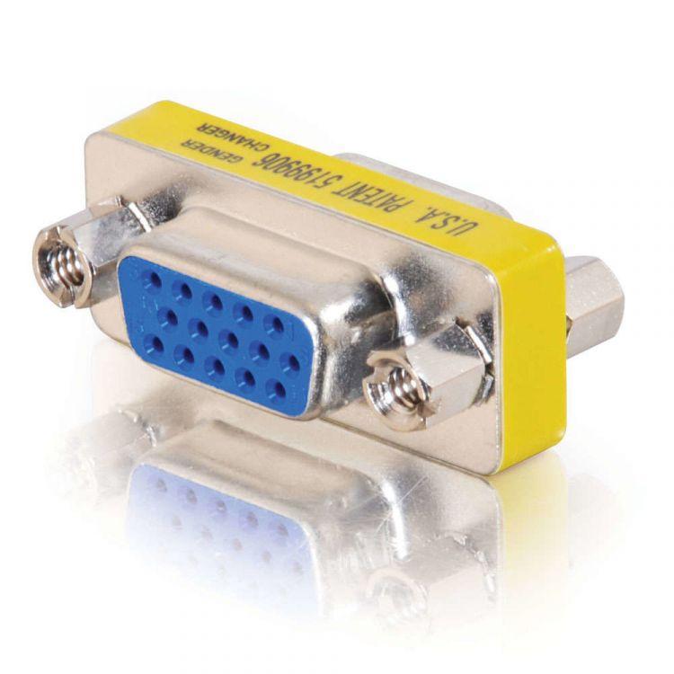 C2G HD15 VGA F/F Mini Gender Changer (Coupler)