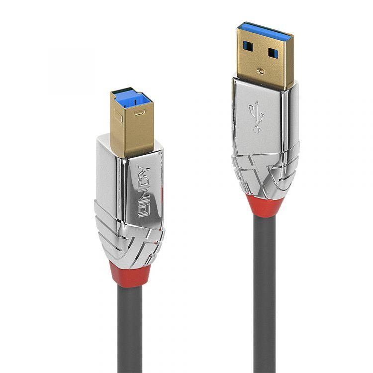 Lindy 36662 USB cable 2 m 3.2 Gen 1 (3.1 Gen 1) USB A USB B Gray