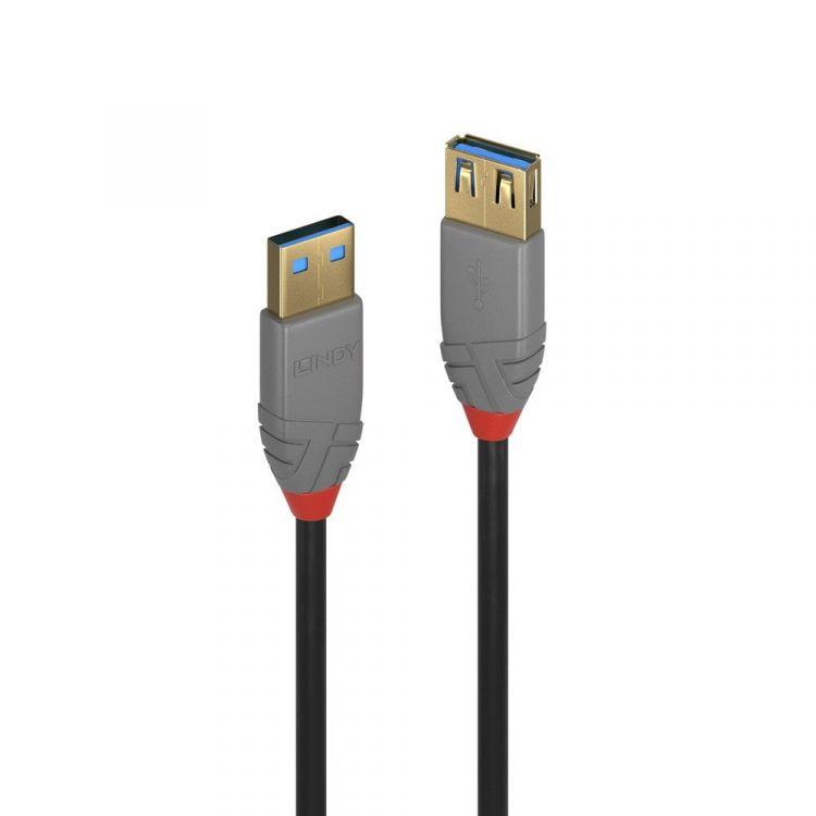 Lindy 36760 USB cable 0.5 m 3.2 Gen 1 (3.1 Gen 1) USB A Black