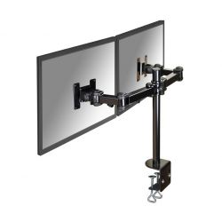 Newstar Full Motion Dual Desk Mount (clamp) for two 10-27