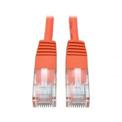 Tripp Lite Cat5e 350MHz Molded UTP Patch Cable (RJ45 M/M) - Orange, 4.27 m (14-ft.)