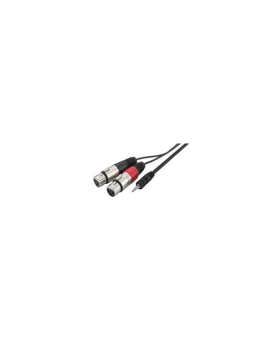 XLR Black Cables de audio Qtx 190.082UK cable de audio 6 m XLR 3-pin , Female, 6 m, Black 3-pin 3-pin Male XLR