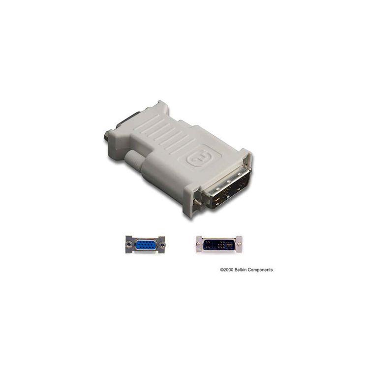 Belkin DVI/VGA, M/F 17 pin analog DVI 15 pin HD D-Sub (HD-15) Grey