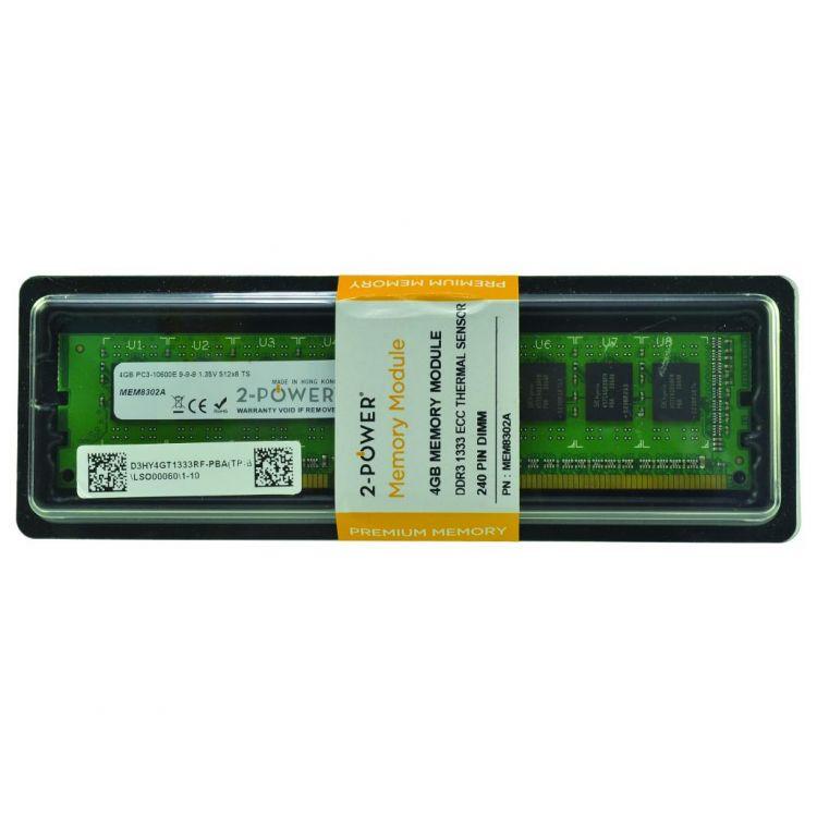 2-Power 4GB DDR3L 1333MHz ECC + TS UDIMM Memory - replaces 2PDPC31333EDPC14G