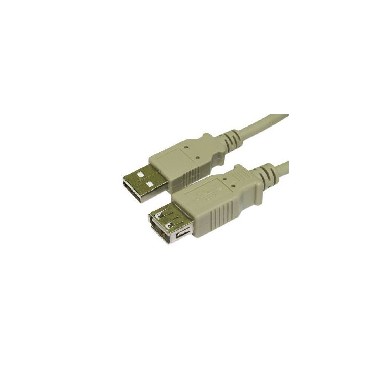 Cables Direct USB2-025 USB cable 5 m USB A Male Female Beige