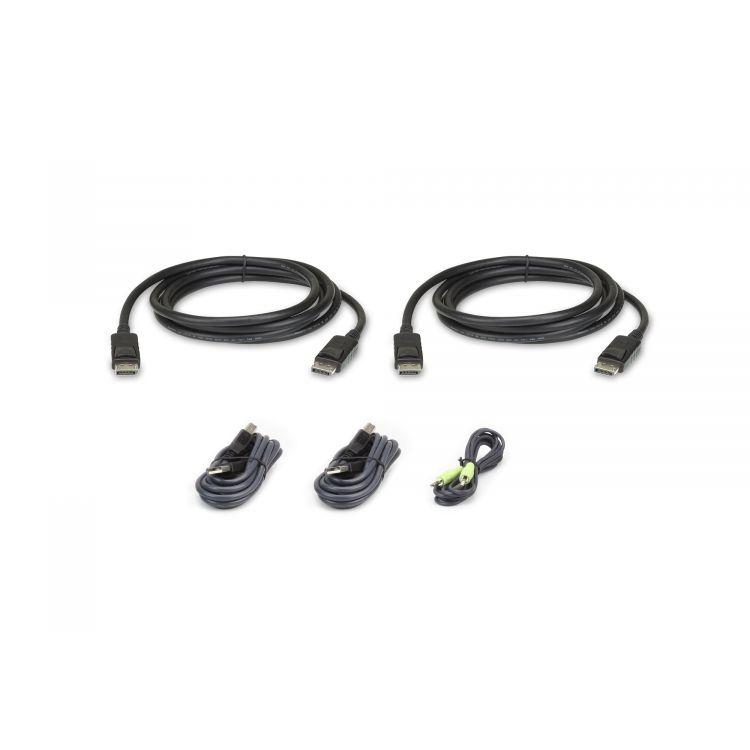 Aten 2L-7D02UDPX5 KVM cable Black 1.8 m