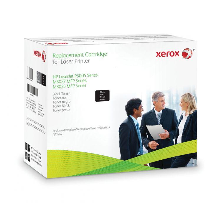 Xerox Black toner cartridge. Equivalent to HP Q7551X. Compatible with HP LaserJet M3027 MFP, LaserJet M3035 MFP, LaserJet P3005