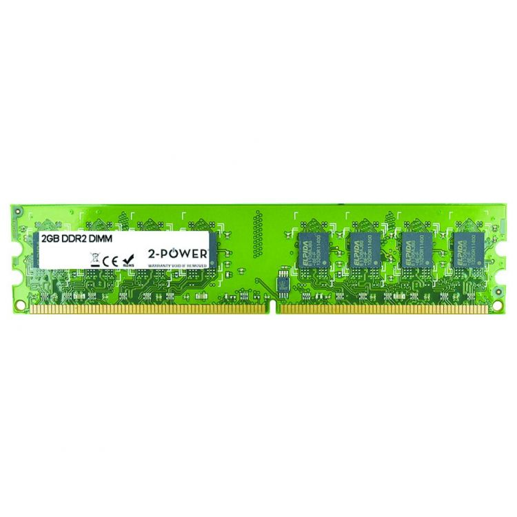 2-Power 2GB DDR2 800MHz DIMM Memory - replaces M25664G60