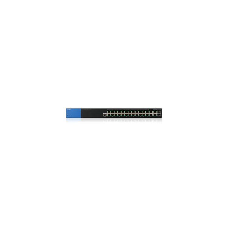 Linksys LGS528P Managed L2/L3 Gigabit Ethernet (10/100/1000) Black 1U Power over Ethernet (PoE)