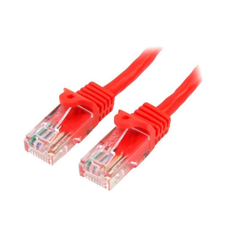 StarTech.com 45PAT5MRD networking cable 5 m Cat5e U/UTP (UTP) Red