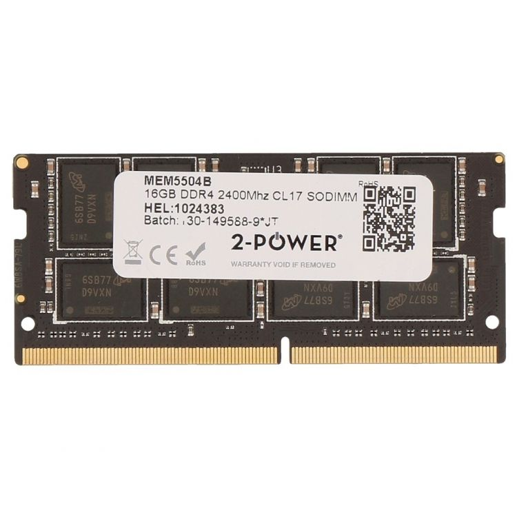 2-Power 16GB DDR4 2400MHz CL17 SODIMM Memory - replaces SNP821PJC/16G