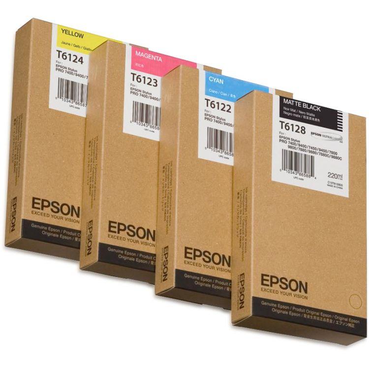 Epson Singlepack Matte Black T612800 220 ml