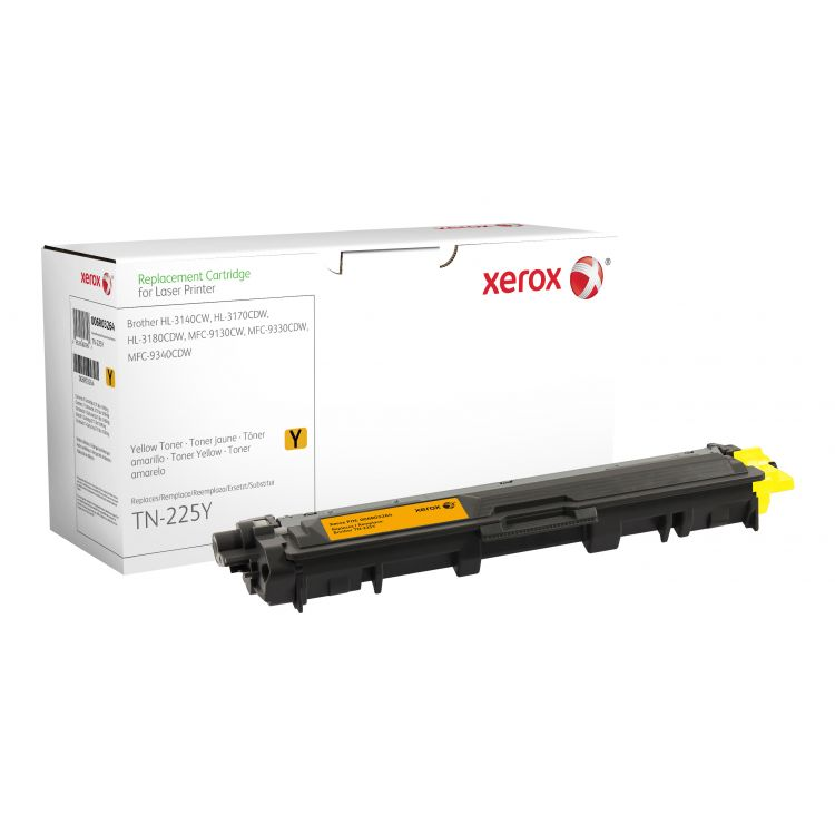 Xerox Yellow toner cartridge. Equivalent to Brother TN245Y. Compatible with Brother DCP-9020, HL-3140, HL-3150, HL-3170, MFC-9130, MFC-9140, MFC-9330, MFC-9340