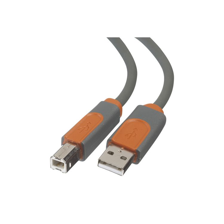 Belkin CU1000CP4.8M USB cable 4.8 m USB A USB B Male Grey