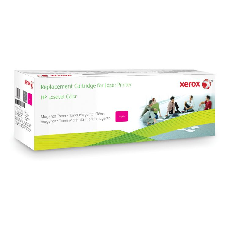 Xerox Magenta toner cartridge. Equivalent to HP CE403A. Compatible with HP Colour LaserJet M551DN, Colour LaserJet M551