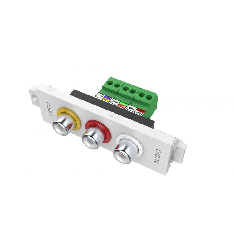 Vision TC3 3PHO socket-outlet 3 x RCA White