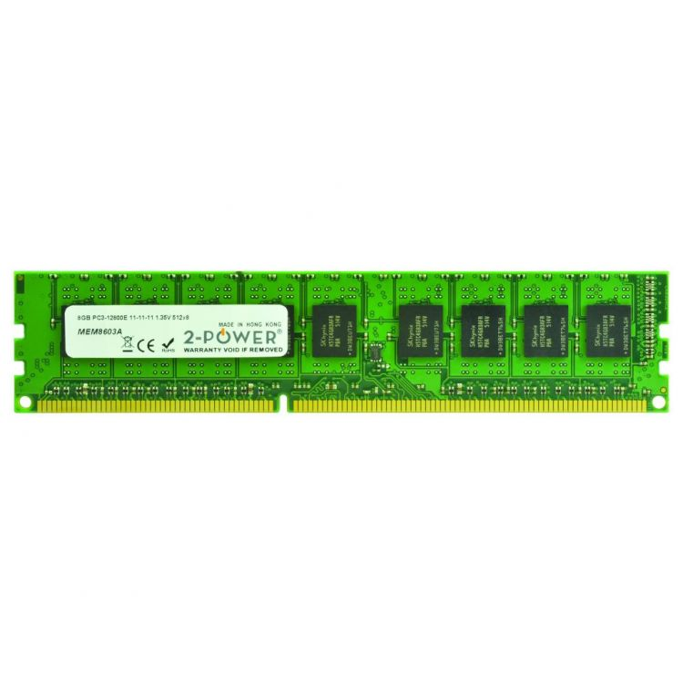 2-Power 8GB DDR3L 1600MHz ECC + TS UDIMM Memory - replaces A2Z50AT