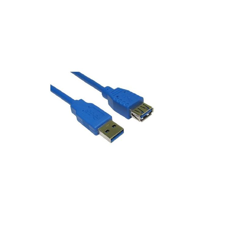 Cables Direct USB3-822BL USB cable 2 m USB A Male Female Blue