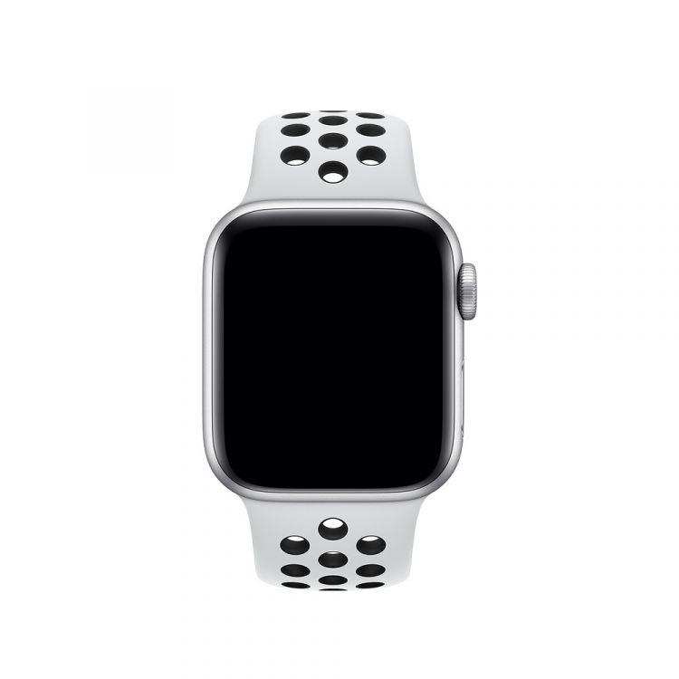 Apple 40mm Pure Platinum/Black Nike Sport Band - S/M & M/L