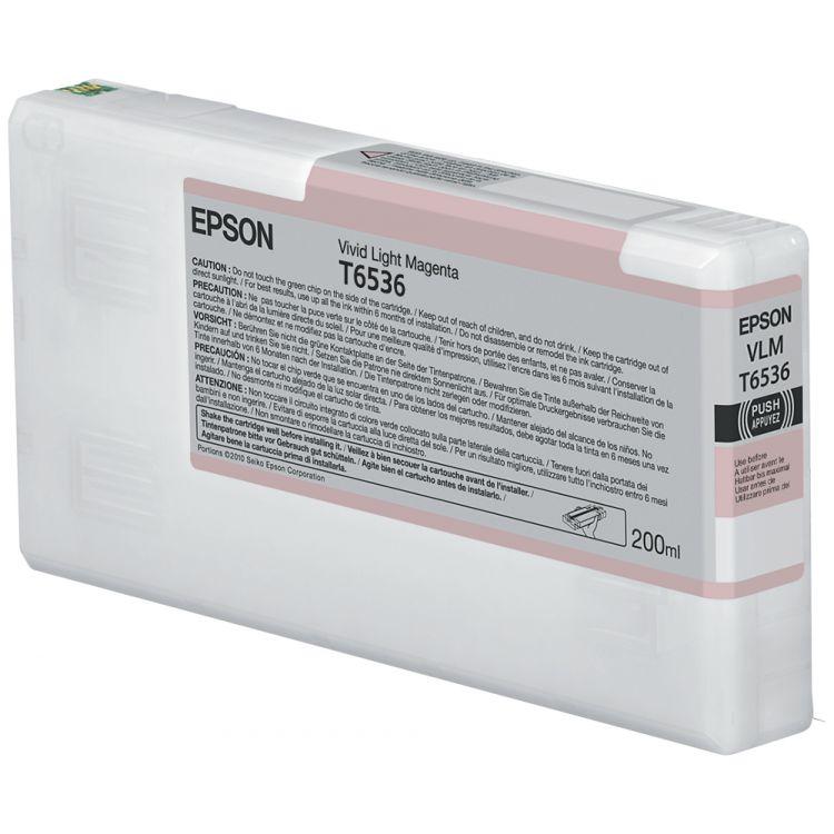 Epson T6536 Vivid Light Magenta (200ml) ink cartridge