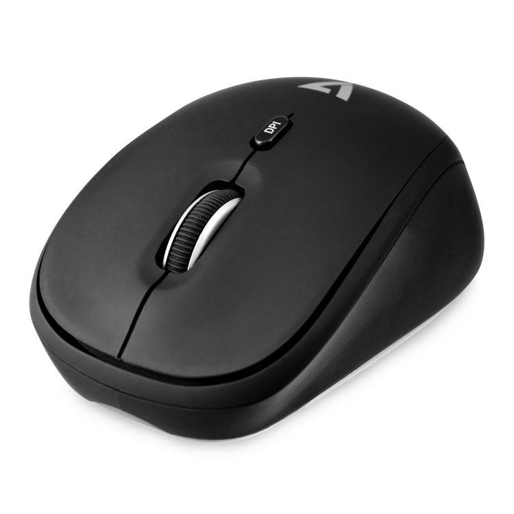 V7 Wireless Mobile Optical Mouse - Black