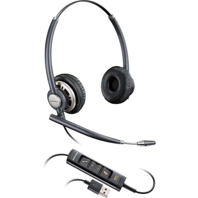 Plantronics Encorepro HW725 Binaural Head-band Black,Silver