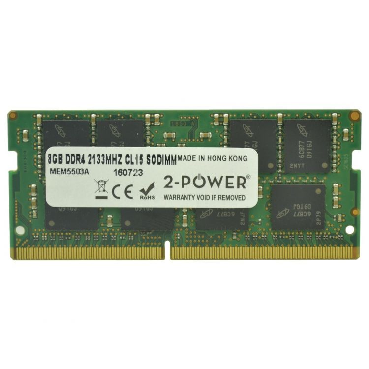 2-Power 8GB DDR4 2133MHz CL15 SoDIMM Memory - replaces 834941-001