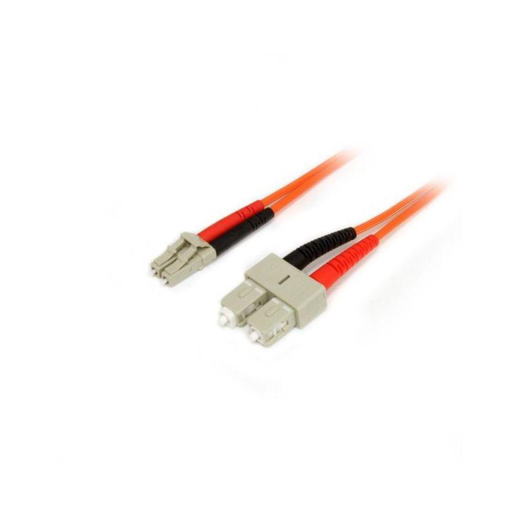 StarTech.com Fiber Optic Cable - Multimode Duplex 50/125 - LSZH - LC/SC - 3 m